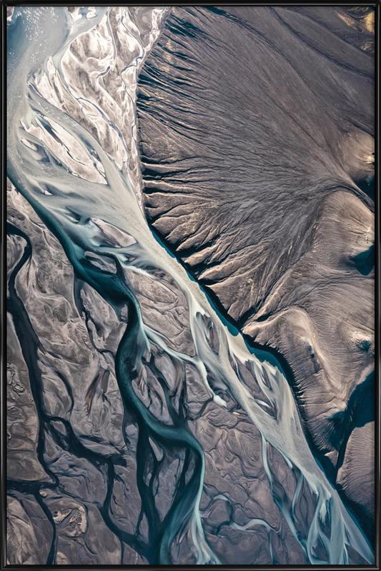 Raw 8 Núpsvötn Iceland Framed Poster