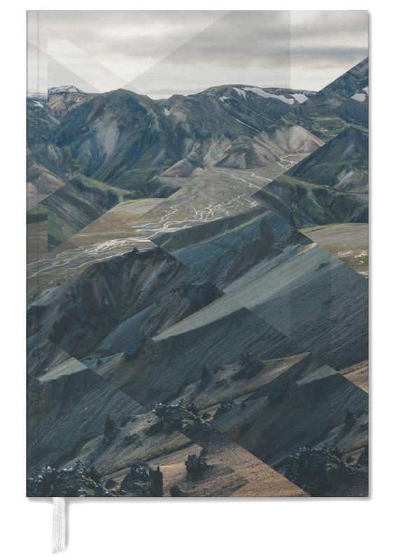 Berge, Abstrakte Landschaften, Scattered 3 Landmannalaugar -Terminplaner