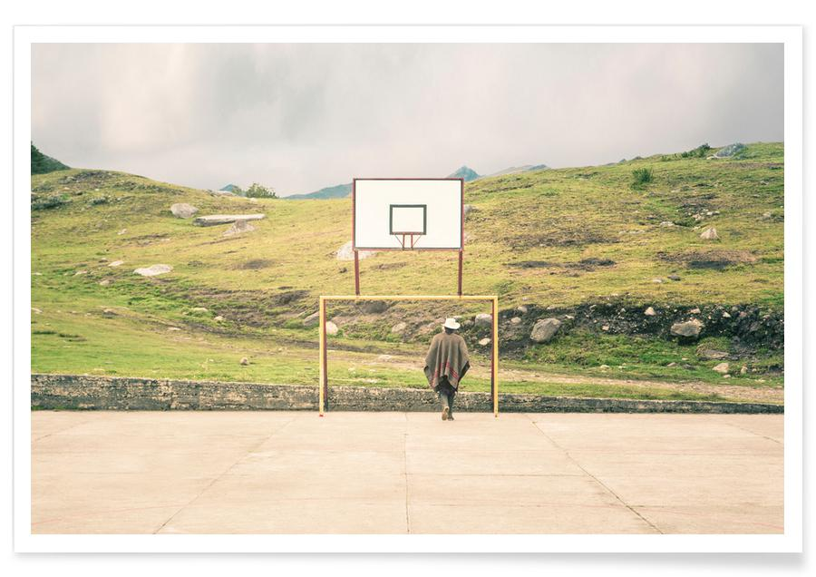 Basket-ball, Streetball Courts 2 El Cocuy Colombia affiche
