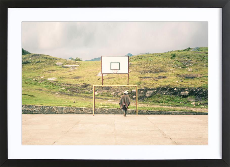 Streetball Courts 2 El Cocuy Colombia -Bild mit Holzrahmen