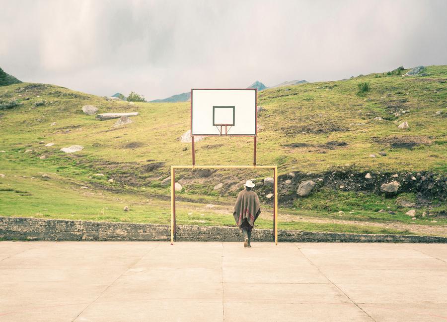 Streetball Courts 2 El Cocuy Colombia -Leinwandbild