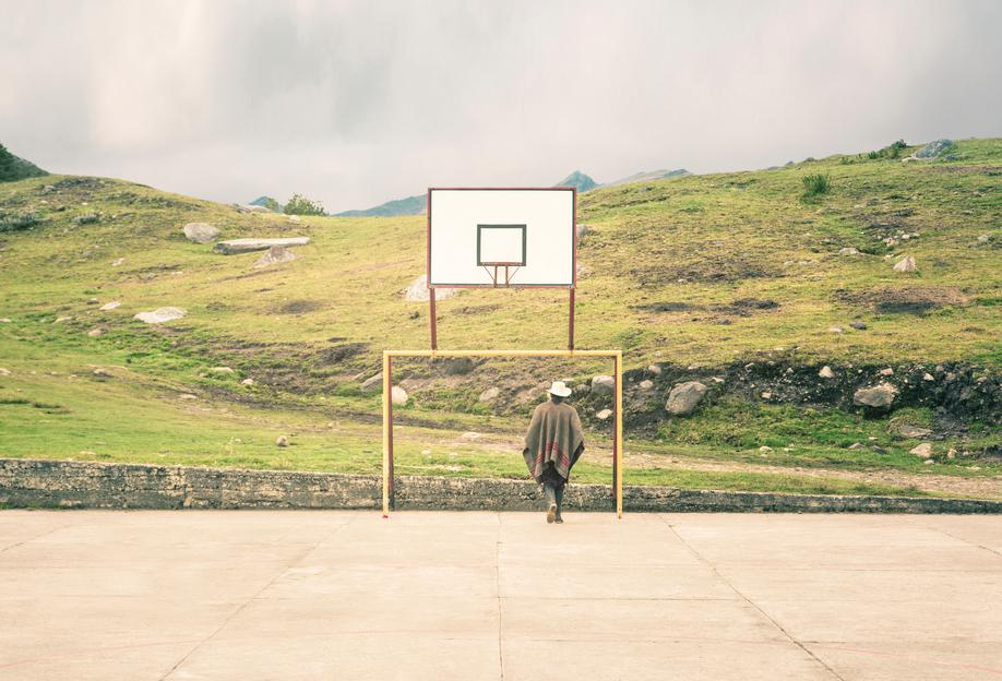 Streetball Courts 2 El Cocuy Colombia -Acrylglasbild