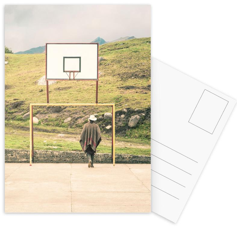 Streetball Courts 2 El Cocuy Colombia -Postkartenset
