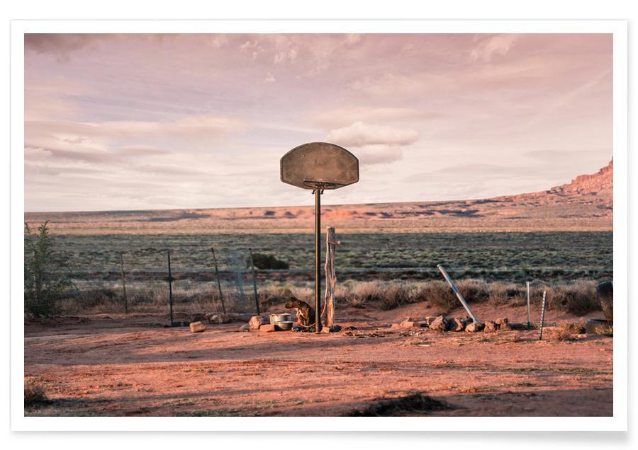 Basket-ball, Déserts, Streetball Courts 2 Utah USA affiche