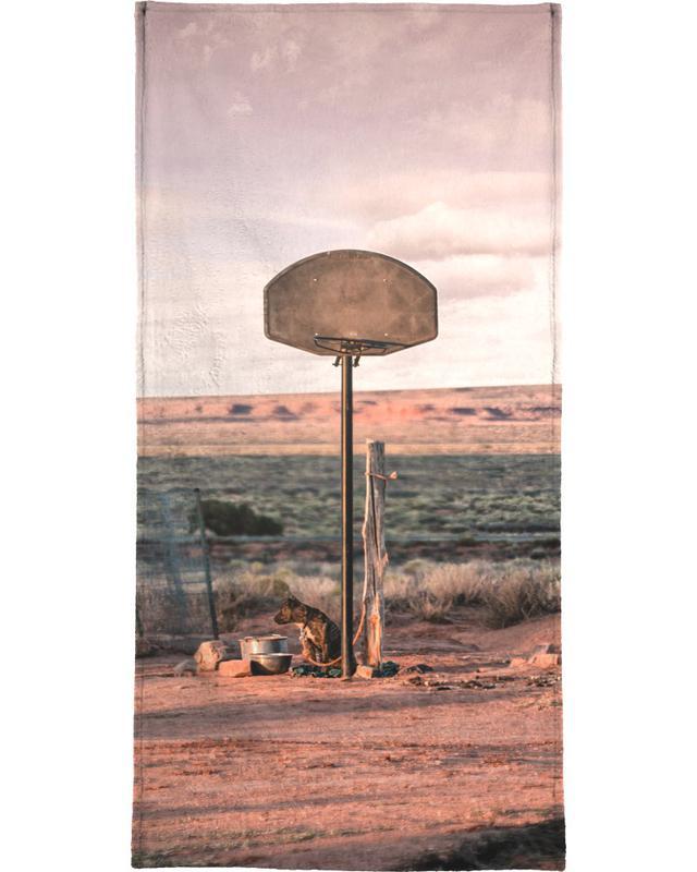 Basket-ball, Déserts, Streetball Courts 2 Utah USA serviette de plage