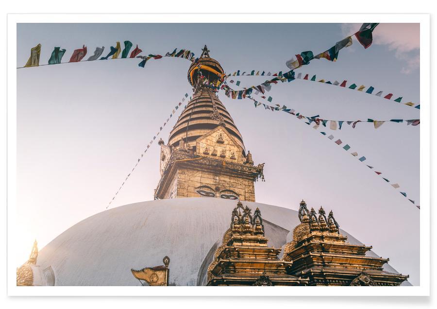 Architekturdetails, Reise, Sehenswürdigkeiten & Wahrzeichen, Raw 14 Bouddha -Poster