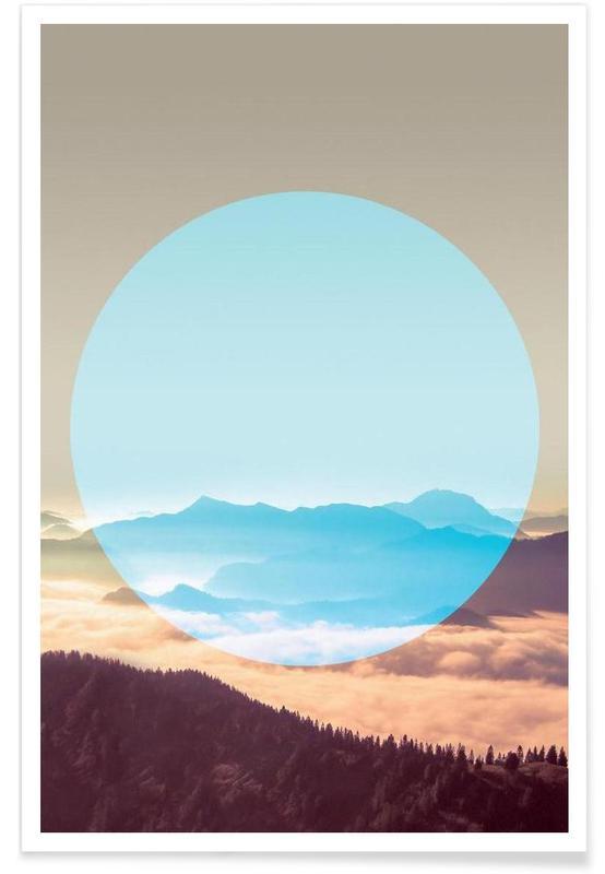 Montagnes, Alpes - Photographie affiche