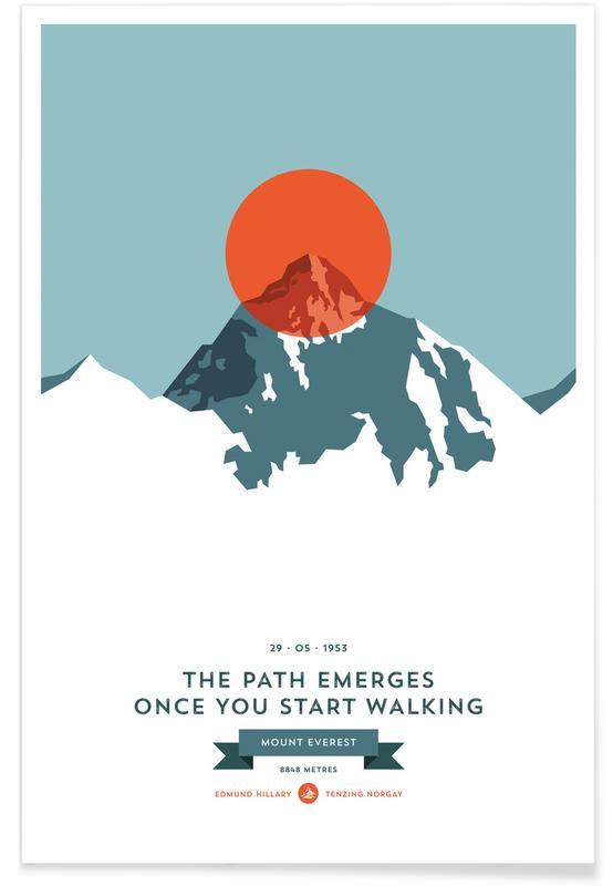 Mount Everest Orange Photograph Poster