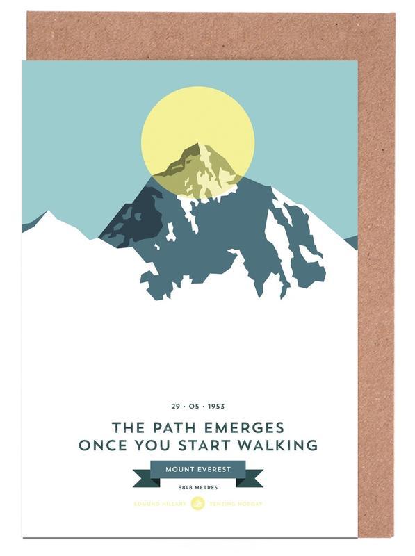 Mount Everest Yellow -Grußkarten-Set