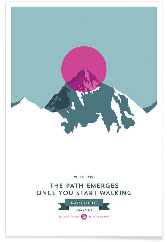 Mount Everest Pink Photograph Poster