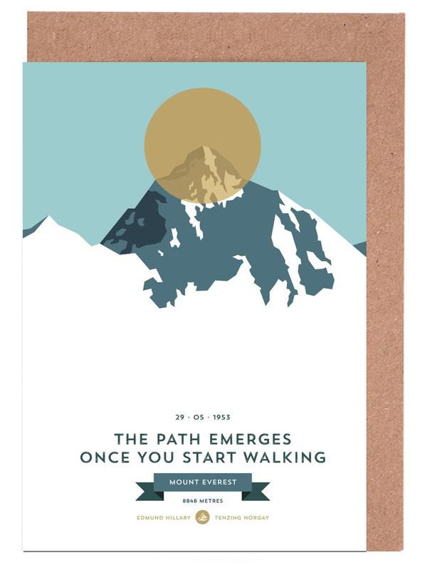 Mount Everest Gold Greeting Card Set