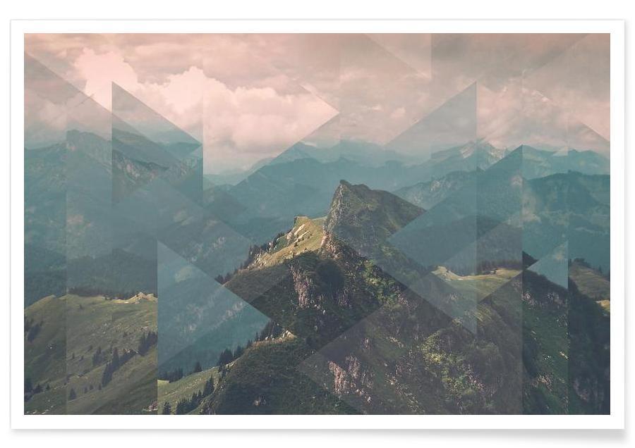 Montagnes, Alpes dispersées - Photographie affiche