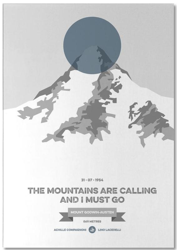 Mountains, K2 Blue Notepad