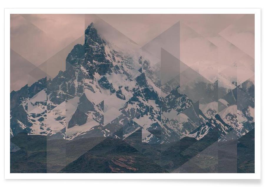 Abstracte landschappen, Puerto Natales uitgestrekt - foto poster