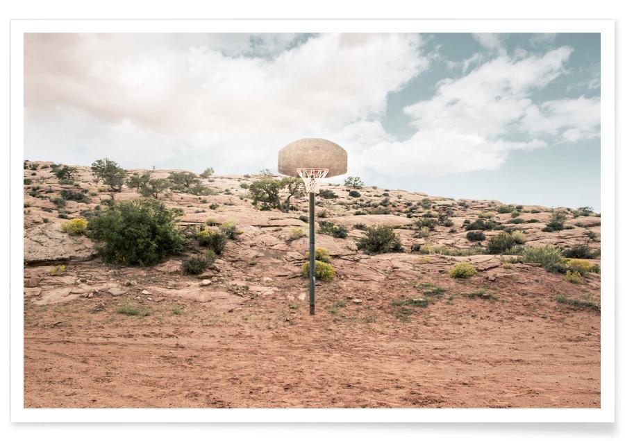 Deserts, Architectural Details, Basketball, Arizona USA Photograph Poster