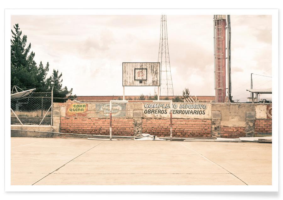 Détails architecturaux, Basket-ball, La Paz, Bolivia affiche