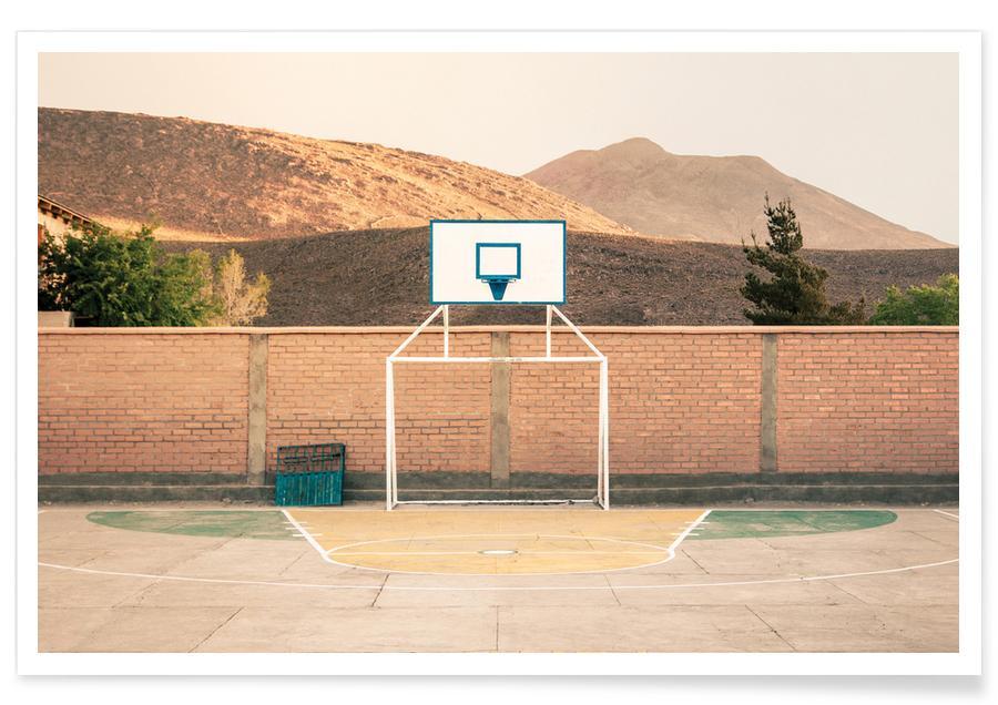 Architekturdetails, Basketball, Potosi, Bolivia -Poster
