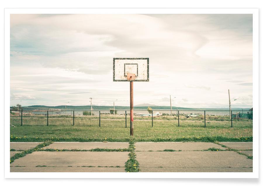 Détails architecturaux, Basket-ball, Puerto Natales, Chile affiche