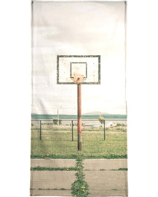 Détails architecturaux, Basket-ball, Puerto Natales, Chile serviette de plage