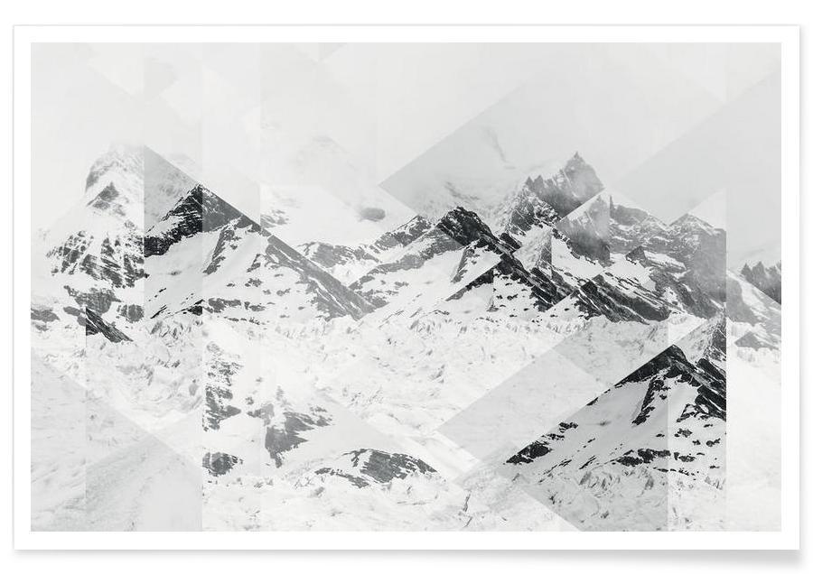 Perito Moreno Scattered Photograph Poster