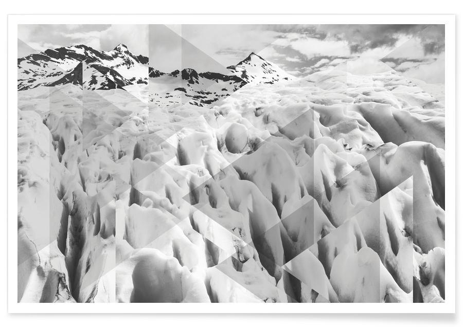 Perito Moreno-BW-Fotografie -Poster