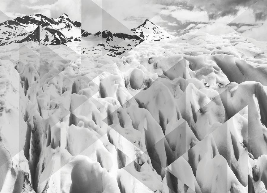 Scattered 2 Perito Moreno BW -Leinwandbild