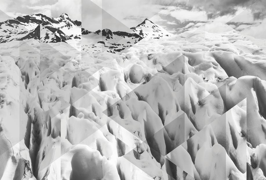 Scattered 2 Perito Moreno BW -Alubild