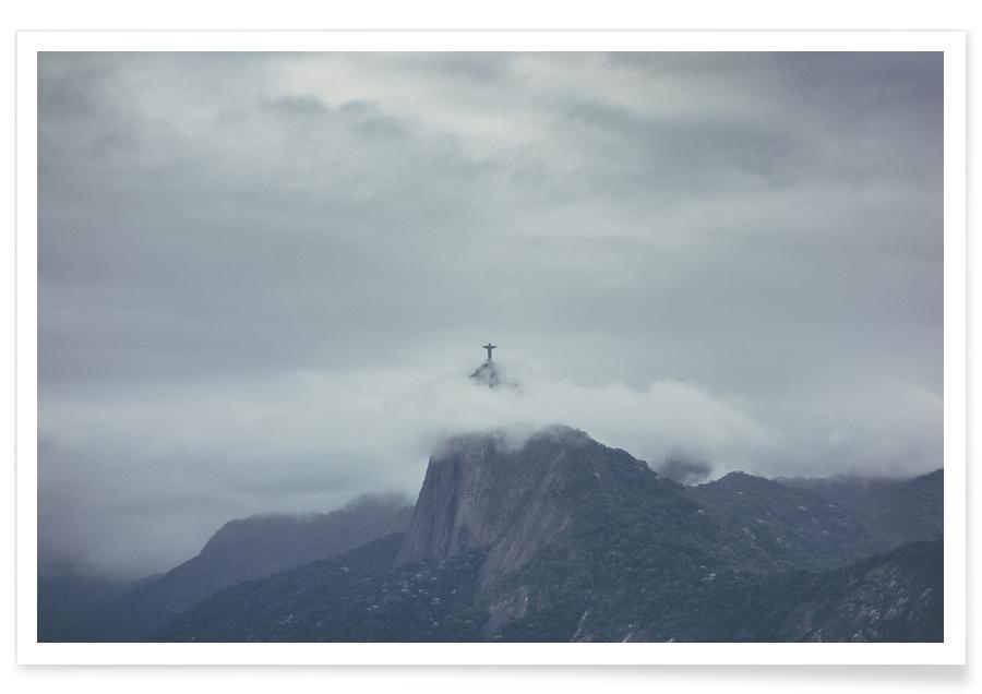 Mountains, Sights & Landmarks, Corcovado Brazil Photograph Poster