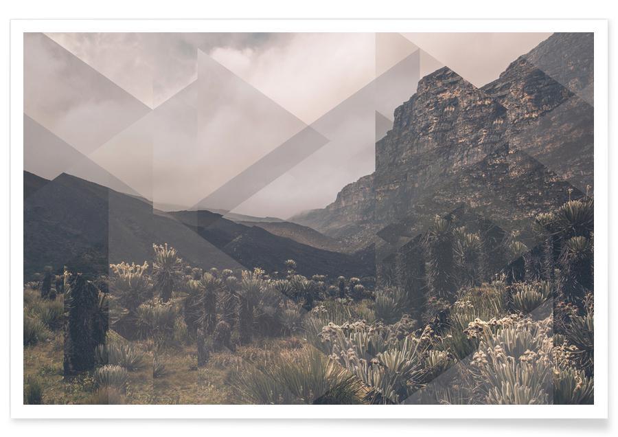 Montagnes, Huancayo dispersé - Photographie affiche