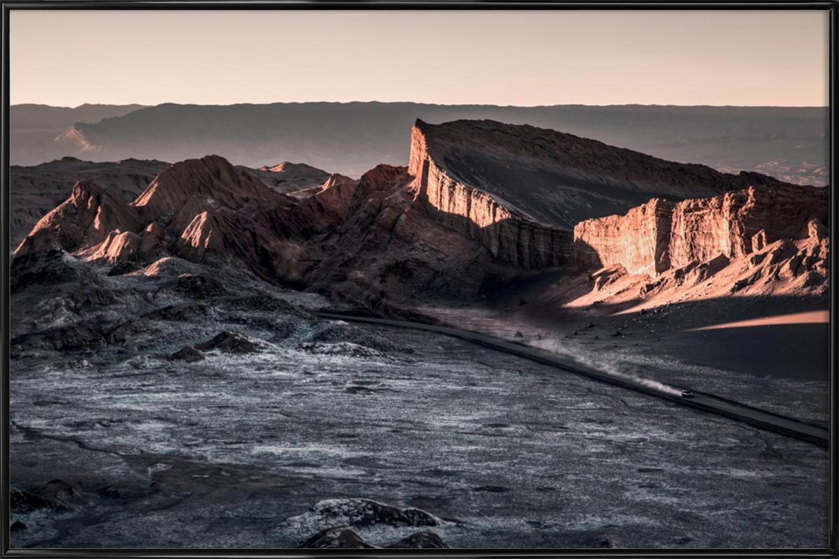 Raw 2 Valle de la Luna Chile.ork Framed Poster