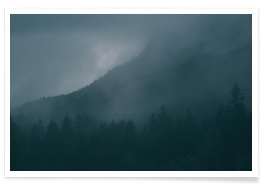 Wälder, Karwendel-Österreich-Fotografie -Poster