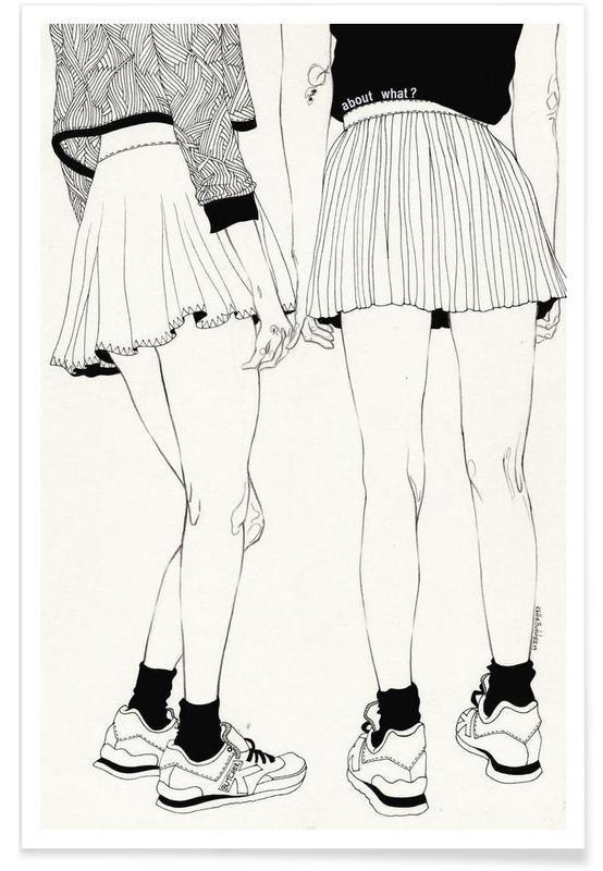 Noir & blanc, Illustrations de mode, We Don't Talk About That affiche