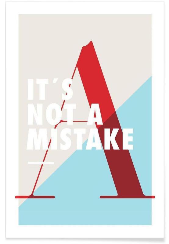 Citations et slogans, Mistake affiche