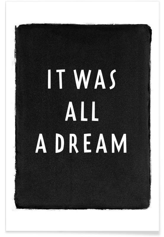 Noir & blanc, Paroles de chansons, It was all a dream affiche