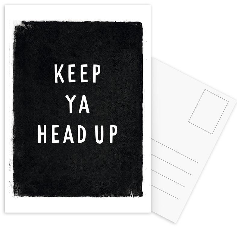Keep ya head up Postcard Set