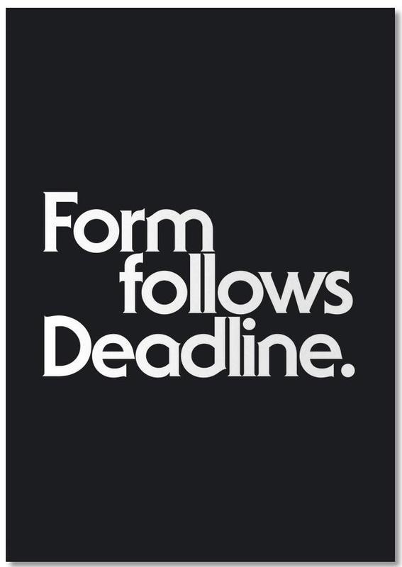 Deadline Black Notebook