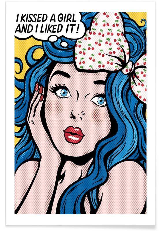 I Kissed a Girl songtekst poster