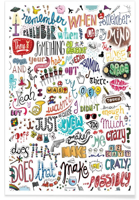 Crazy songtekst poster