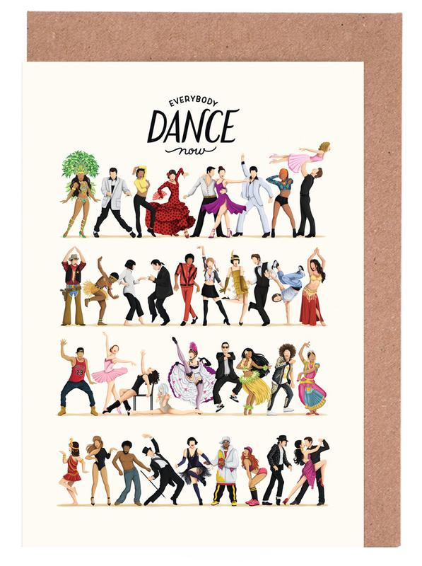 Everybody Dance Now Greeting Card Set