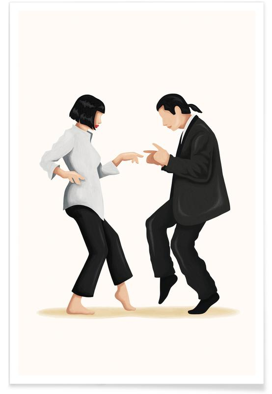 Film, Pulp Fiction Dance Plakat
