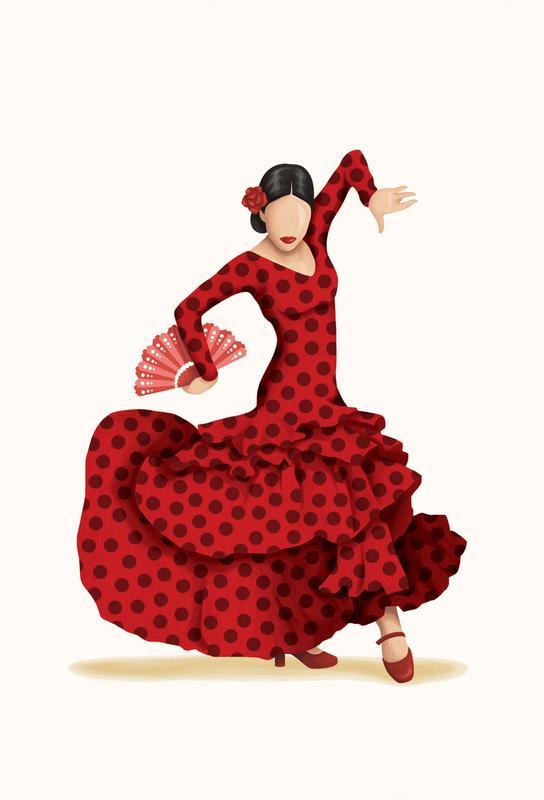 Flamenco Aluminium Print