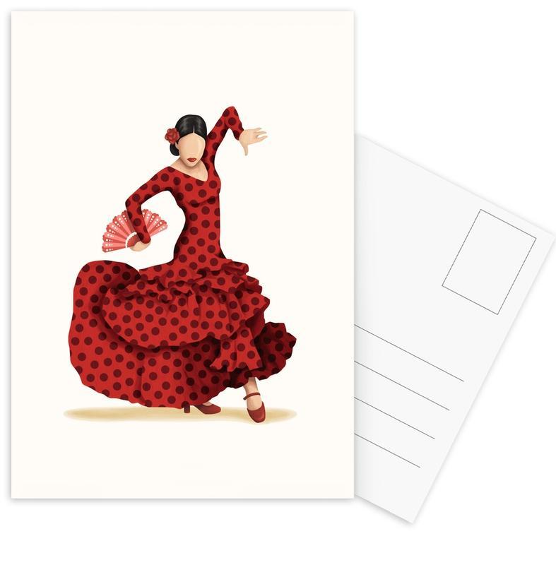 Danse, Flamenco cartes postales