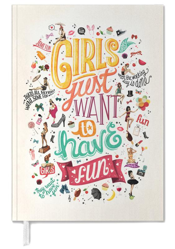 Girls Just Want to Have Fun - Draw Me A Song Project Personal Planner