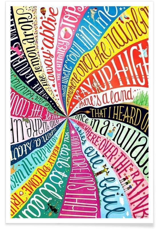 Songteksten, Over the Rainbow songtekst poster