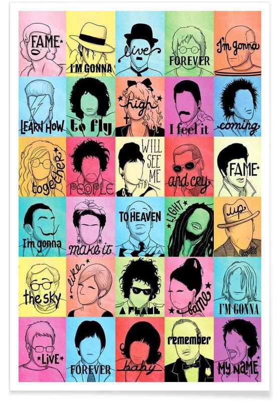 Fame songtekst poster