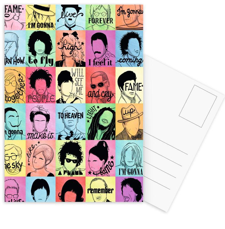 Songteksten, Fame - Draw Me A Song Project ansichtkaartenset