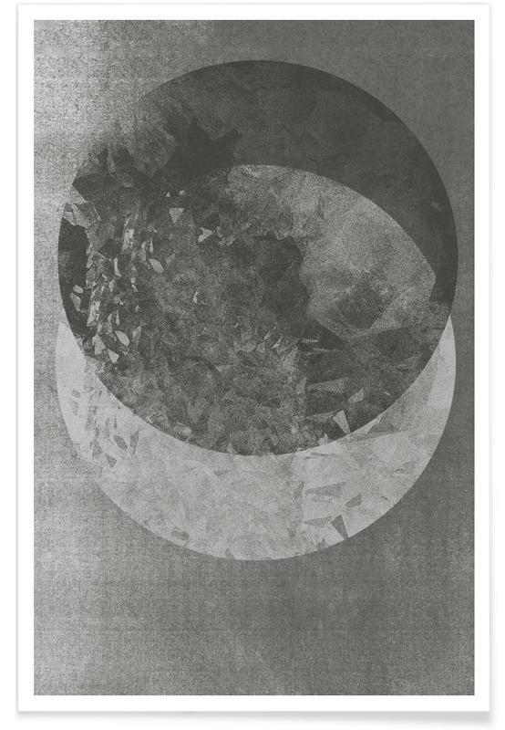 Noir & blanc, Lune, Two Moon affiche