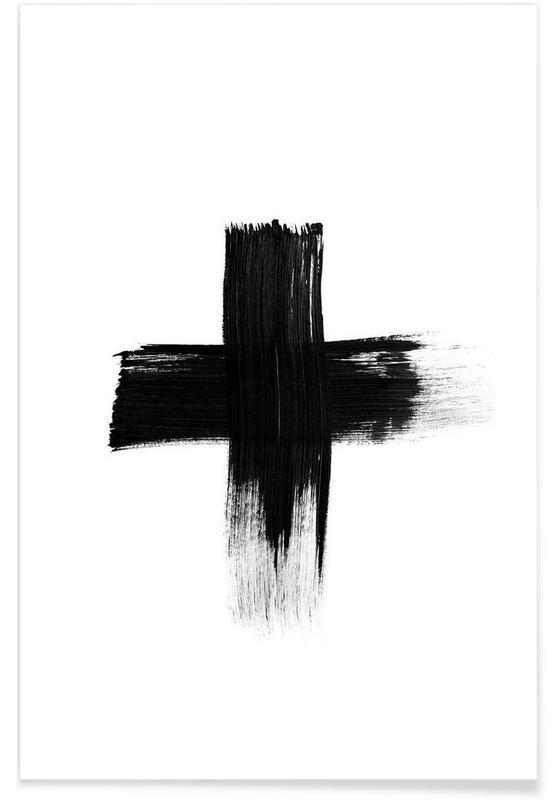 Noir & blanc, Painted Cross affiche