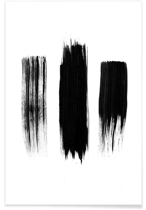 Noir & blanc, Painted Lines affiche