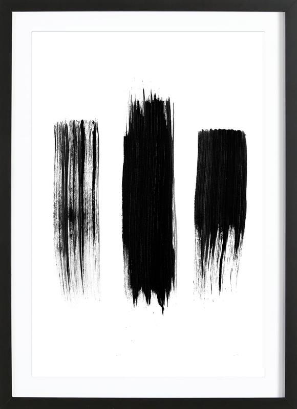Painted Lines -Bild mit Holzrahmen